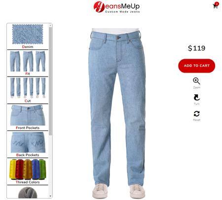 Herren Jeans Konfigurator