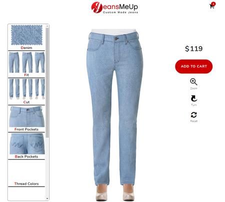 Damen Jeans Konfigurator
