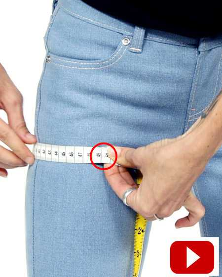 Measurements for your tailor-made jeans, measurements for men's and women's jeans made to measure